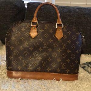 Louis Vuitton monogram Alma PM with Lock + dustbag